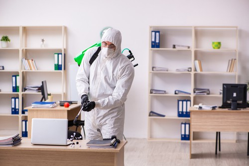 Disinfecting office and workstation